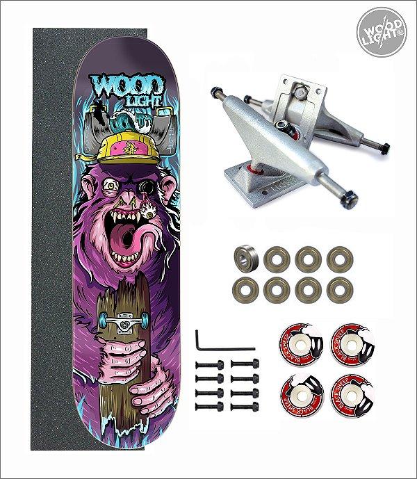 Skate Wood Light Amador Completo Monkey