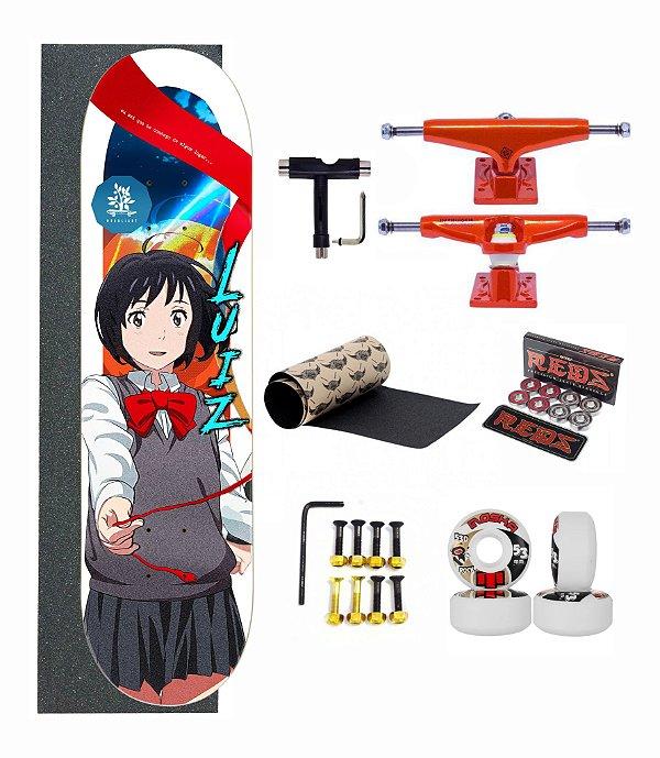 Skate Profissional Wood Light Completo - Mitsuha