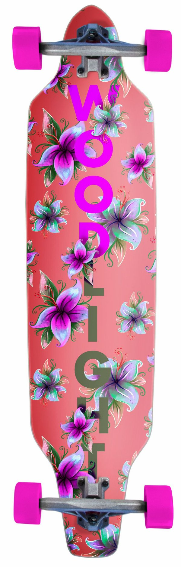 Longboard Assimétrico Montado Pink Flower