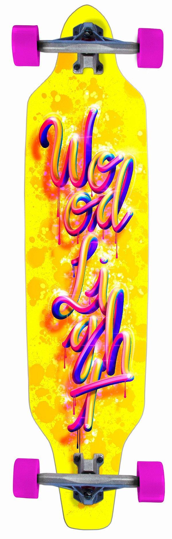 Longboard Assimétrico Montado Splash Colors Yellow