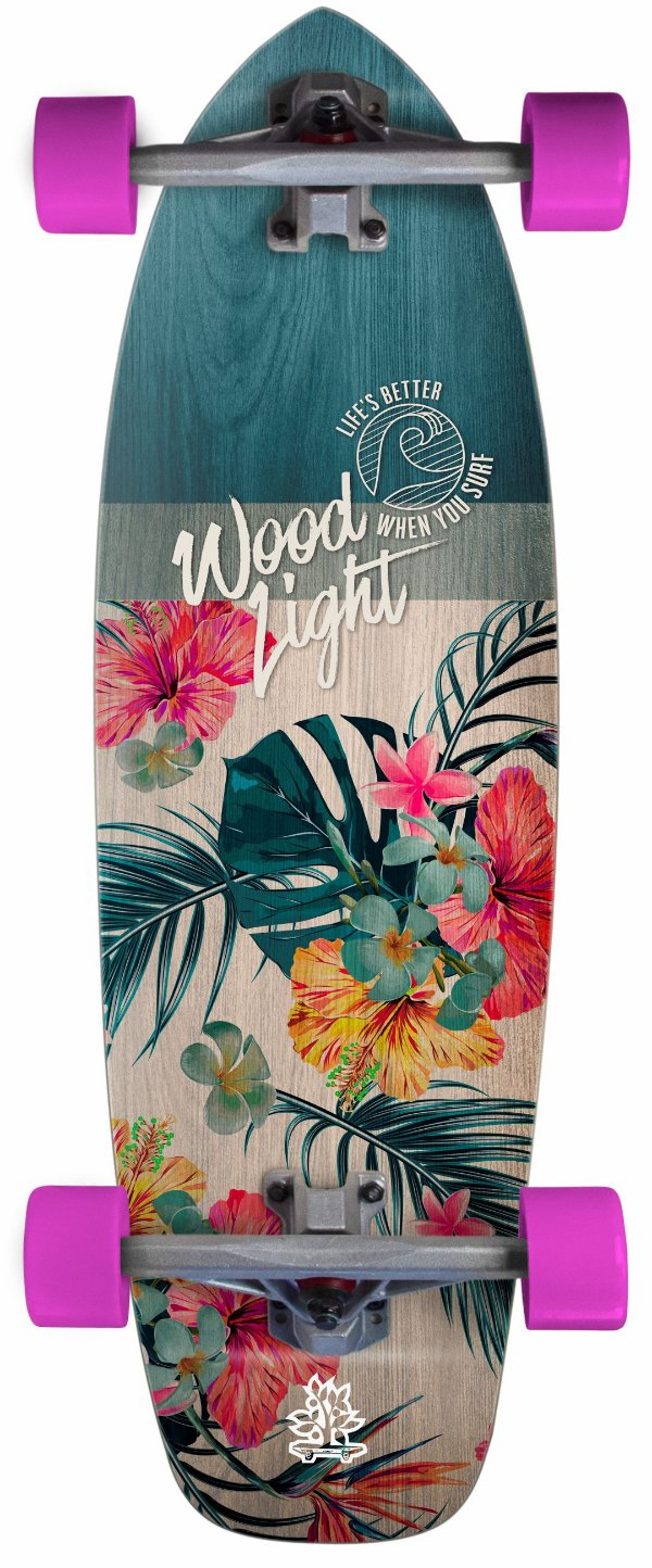 Simulador de Surf Wood Light Completo - Floral