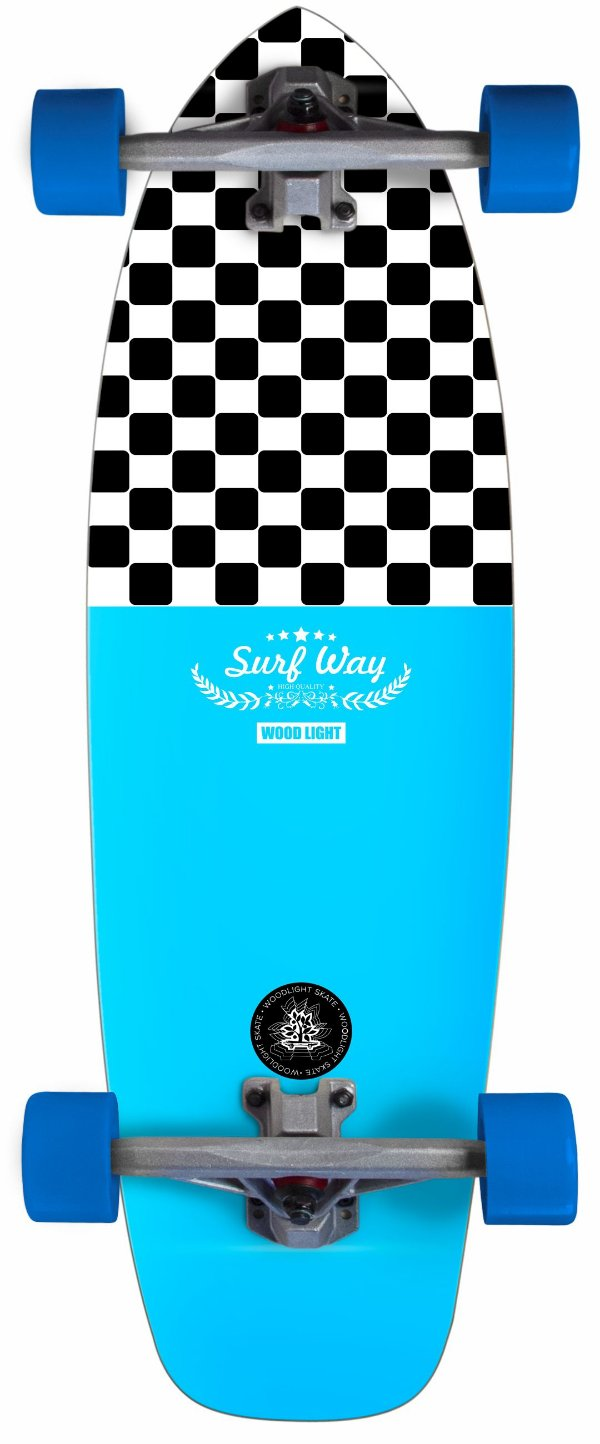 Cruiser New Surf Wood Light Completo - Square and Blue
