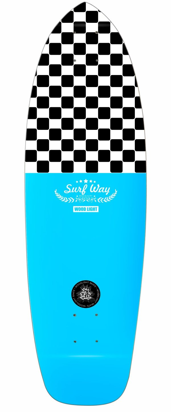 Shape Cruiser New Surf Wood Light - Square and Blue