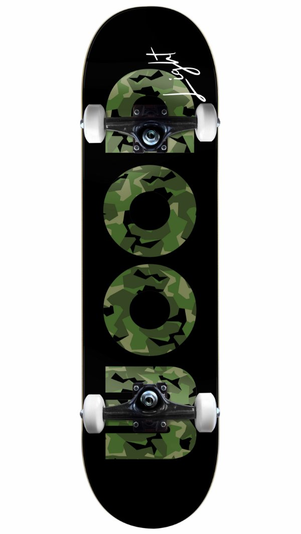 Skate Wood Light Militar Black