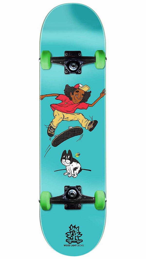 Skate Wood Light Bluedog Completo