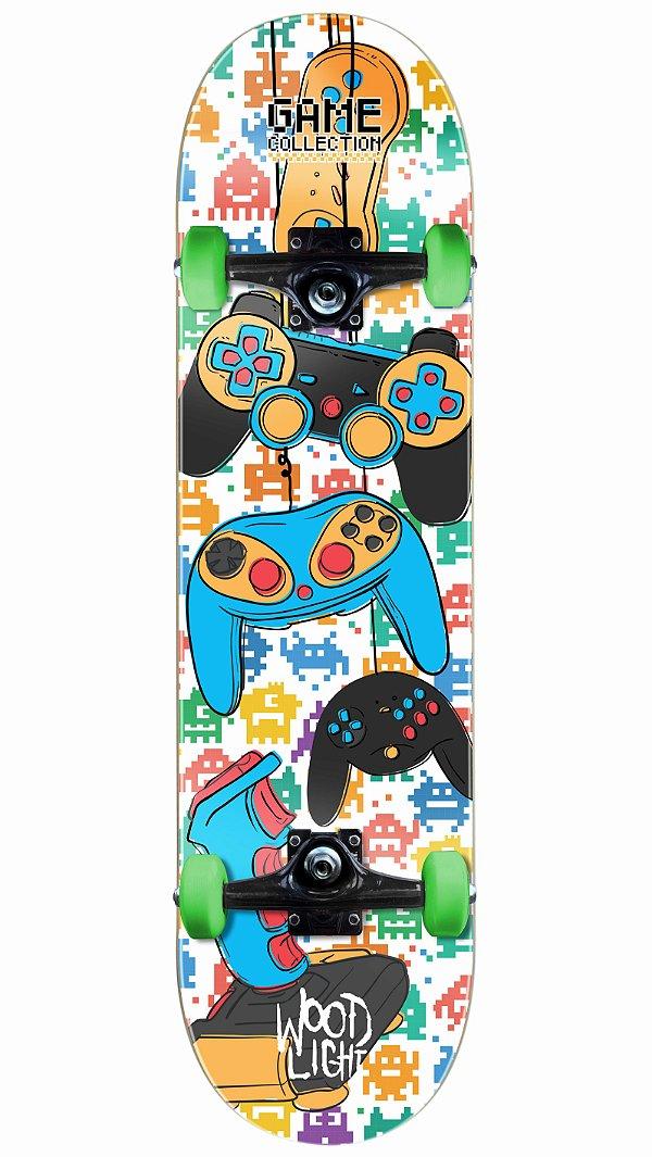 Skate Wood Light Game Control Completo