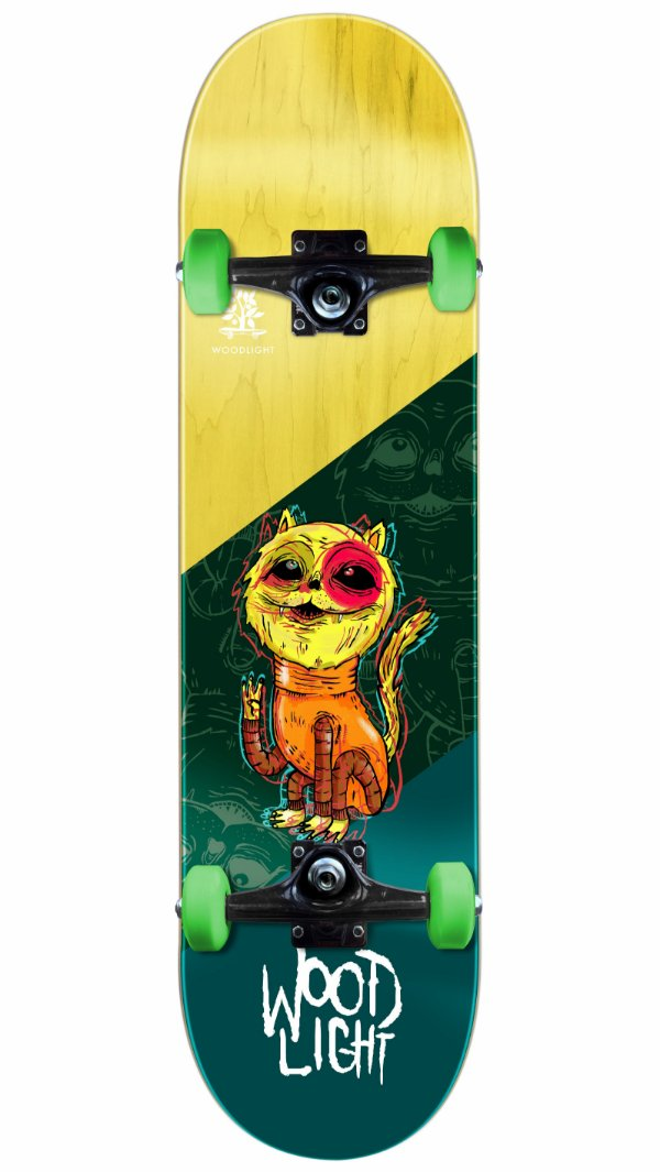 Skate Wood Light Gato