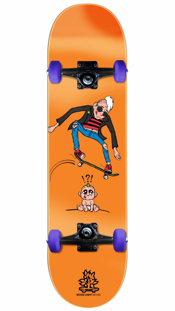 Skate Wood Light Punk Orange