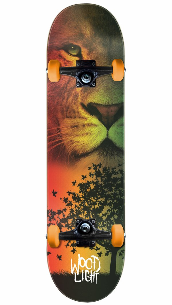 Skate Wood Light Lion