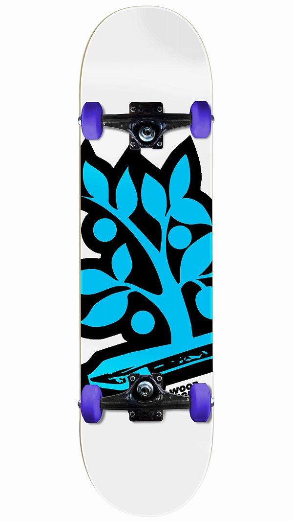 Skate Wood Light Logo Azul