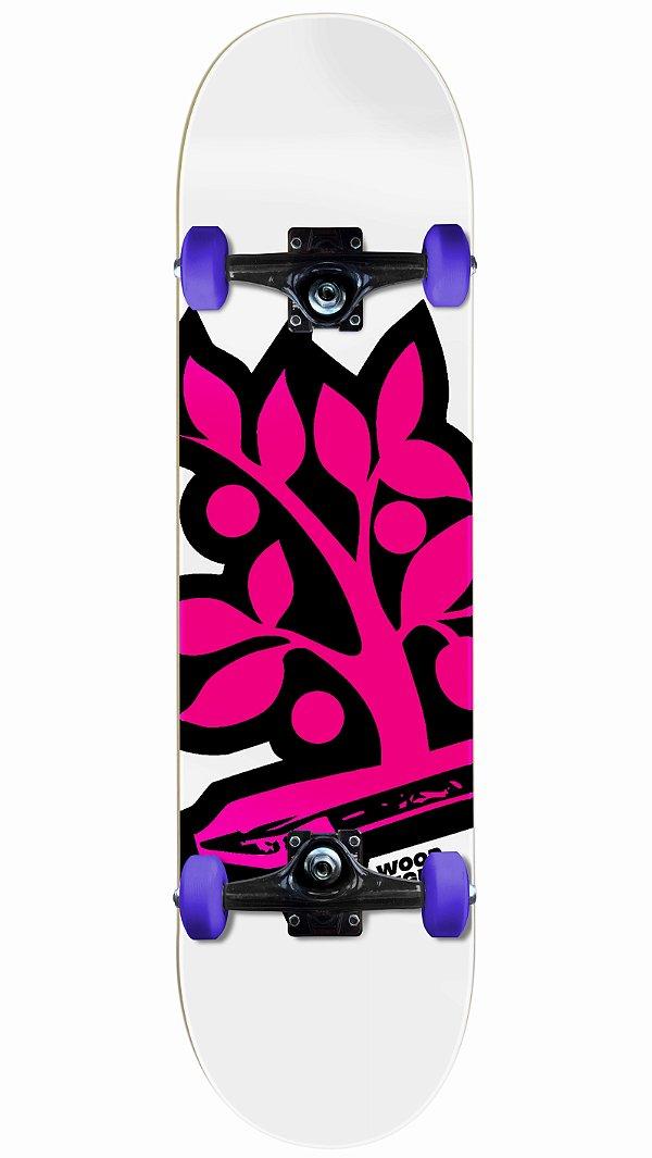 Skate Wood Light Logo Pink