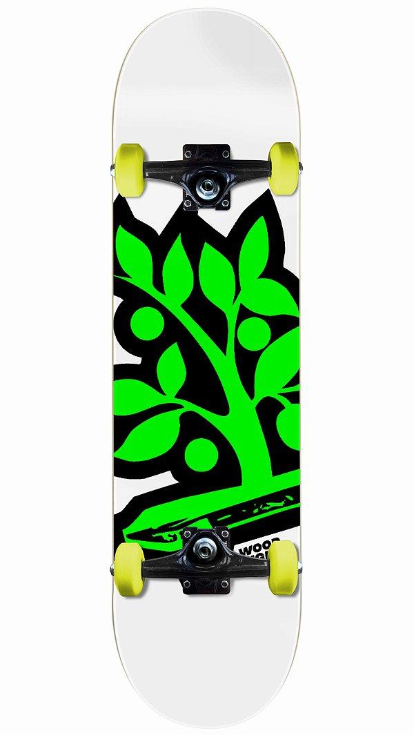 Skate Wood Light Logo Verde Completo