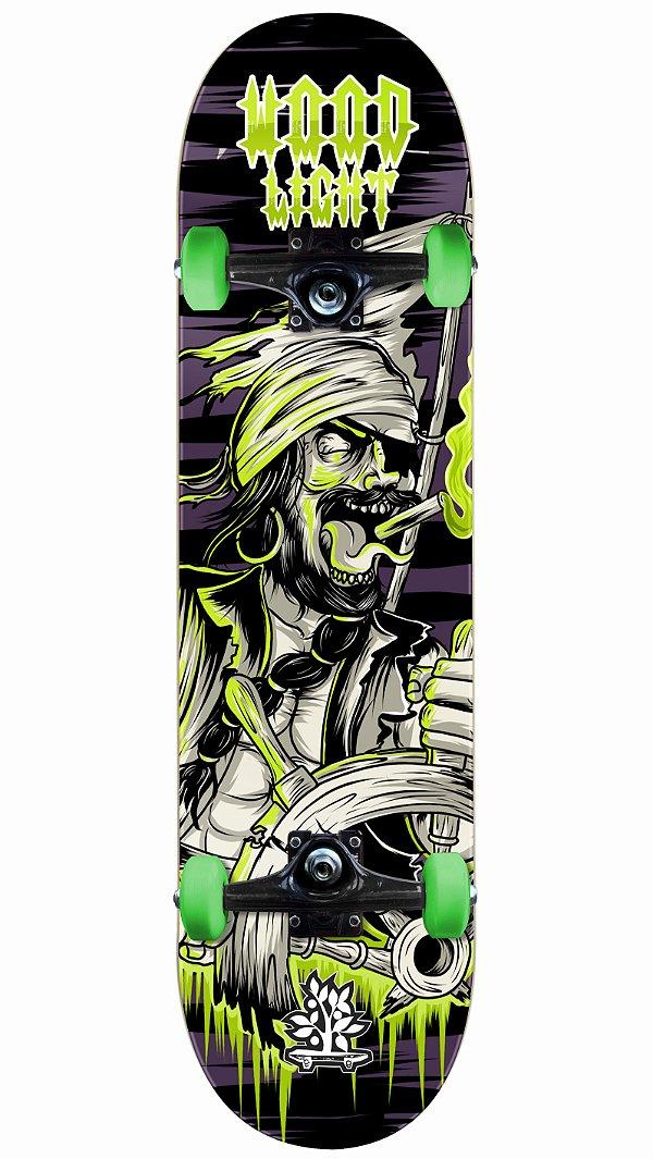Skate Wood Light Pirata Completo