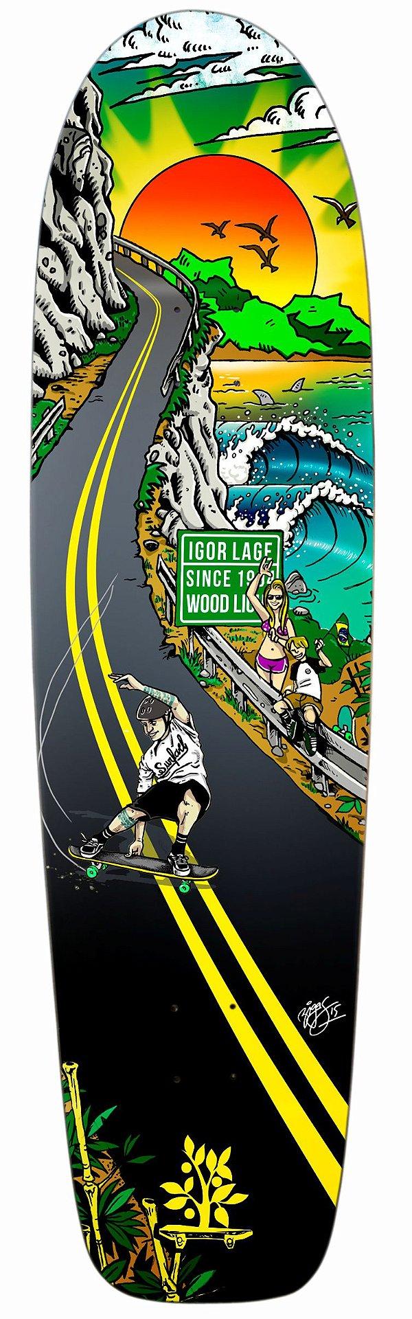 """Shape Longboard Pro Model Igor Lage 41"""" Lifestyle"""