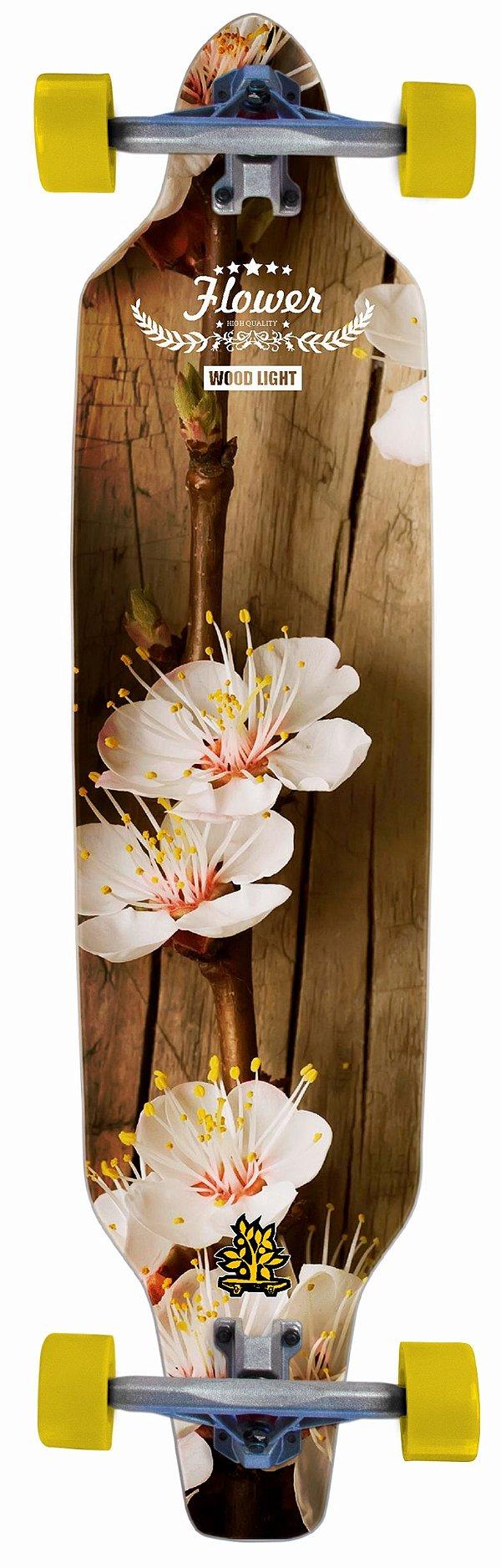 Longboard Assimétrico Montado Flower