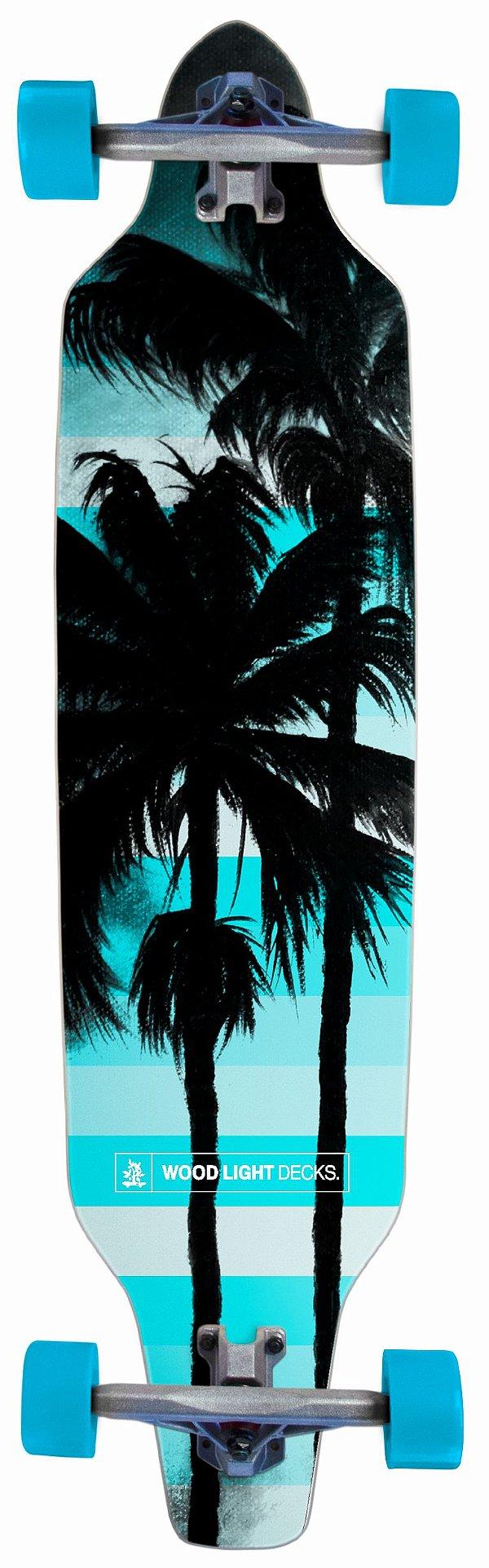 Longboard Assimétrico Montado Blue Palm Tress
