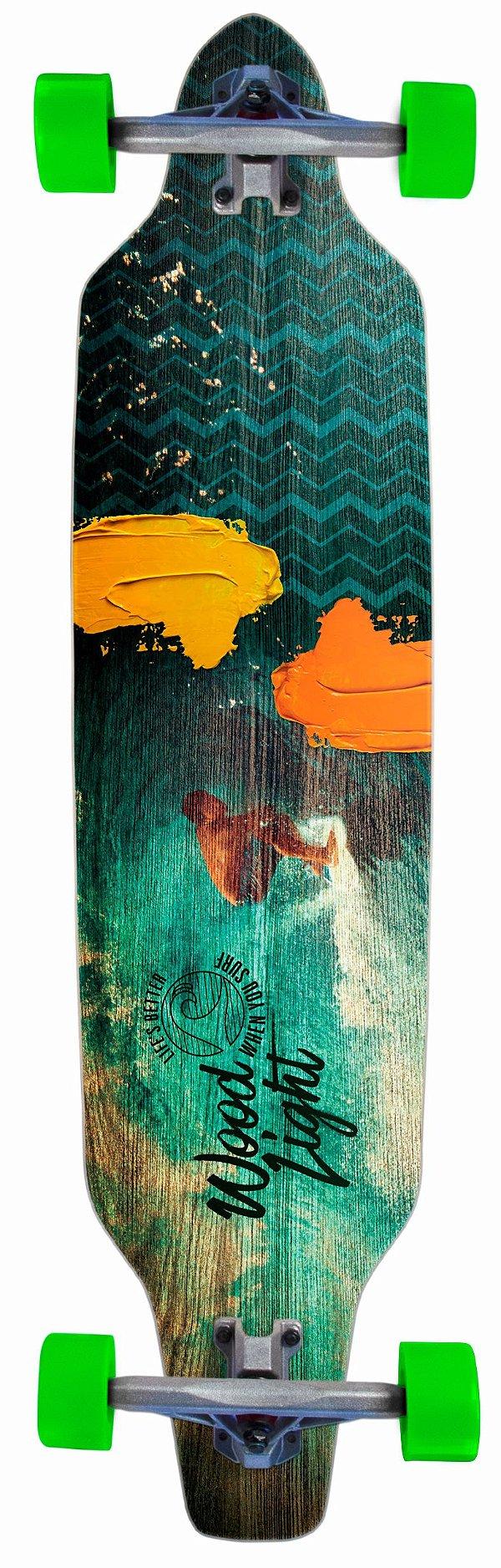 Longboard Assimétrico Montado Street Surfer