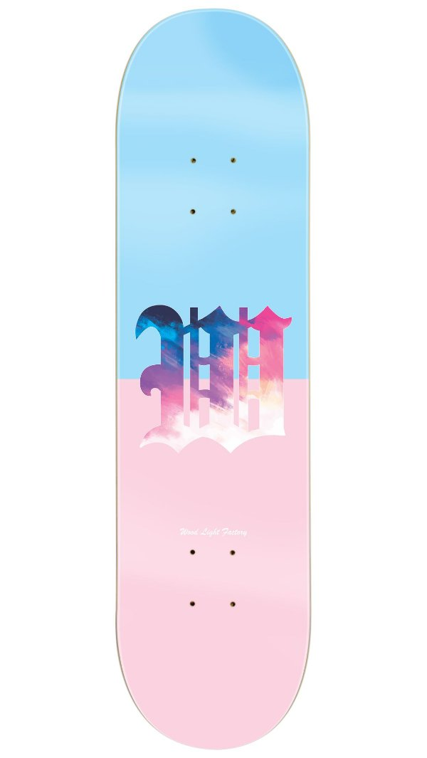 Shape de Skate Dáblio - Blue/Pink