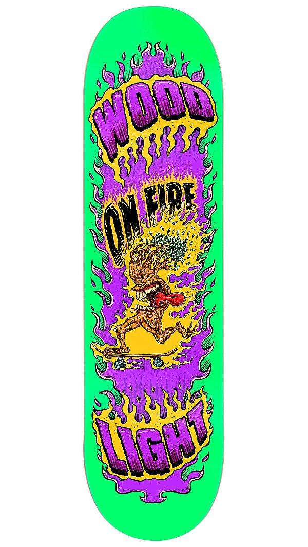 Shape de Skate Fiber Glass - Tree on Fire Green
