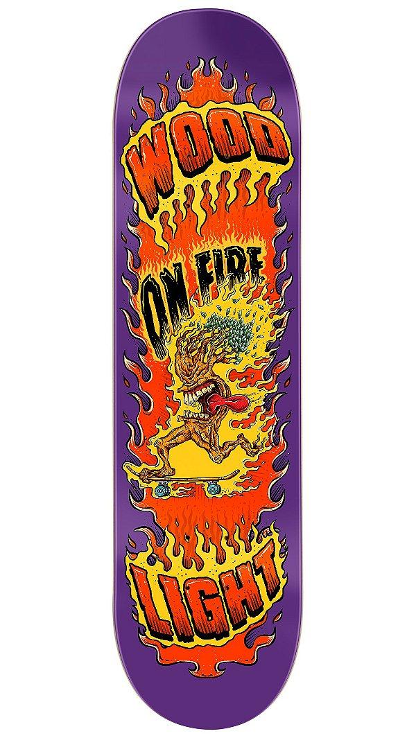 Shape de Skate Fiber Glass - Tree on Fire Purple