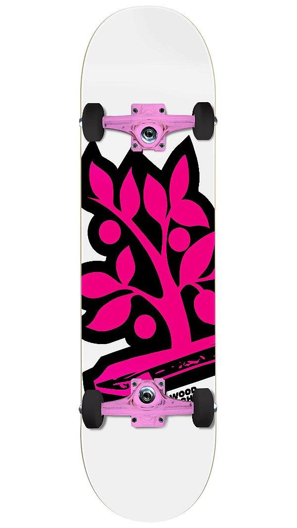 Skate Wood Light Especial Pink - Logo