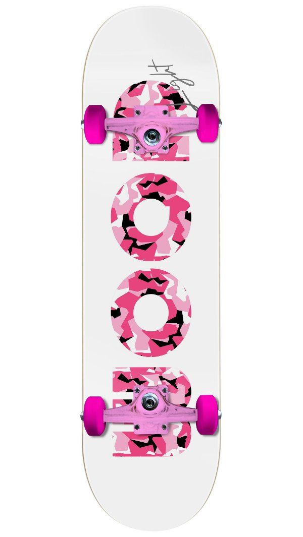 Skate Wood Light Especial Pink - Camo Pink Completo
