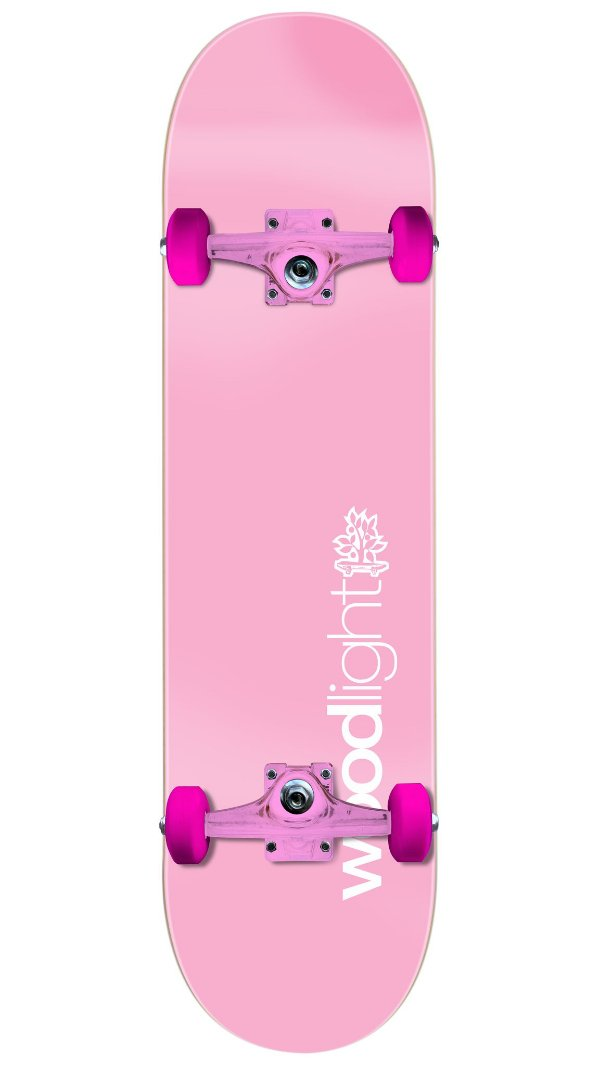 Skate Wood Light Especial Pink - Basic