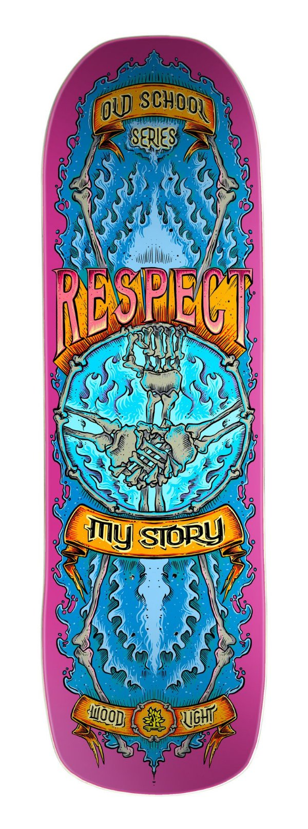 Shape Wood Light Old School Double - Respect Pink