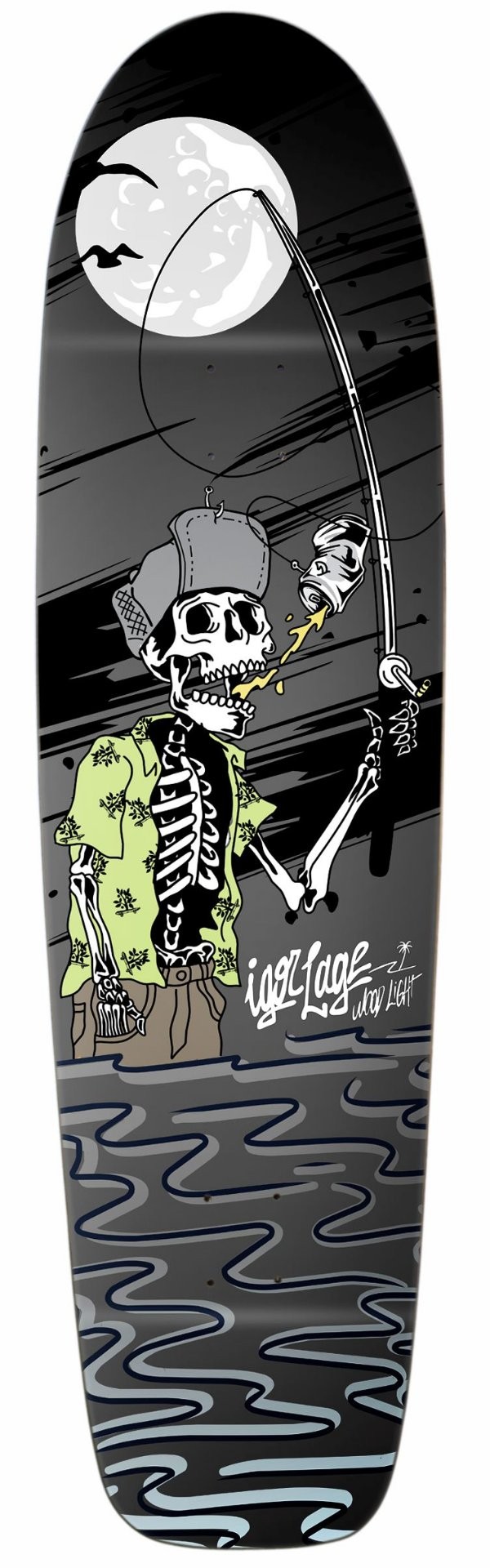 "Shape Longboard Pro Model Igor Lage 41"" Fishing Beer Night"