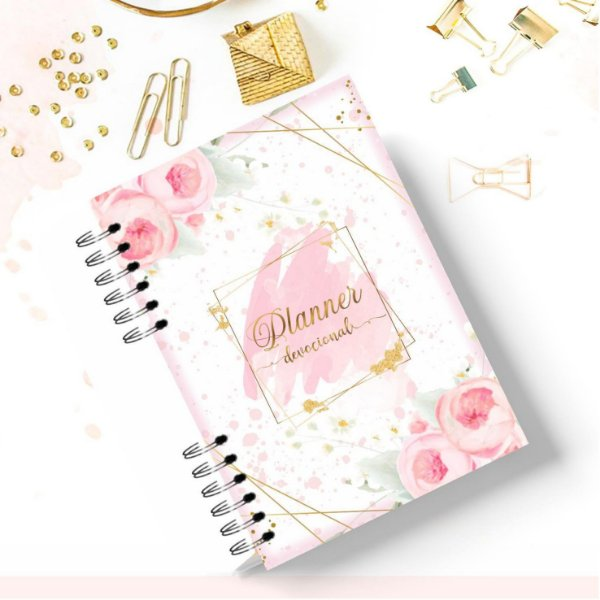 Planner Devocional Feminino Floral