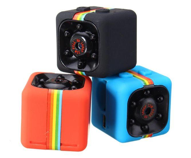 Mini Câmera Espiã Quelima Sq11 1080p Hd Dvr Visão Noturna Vermelha ou Azul