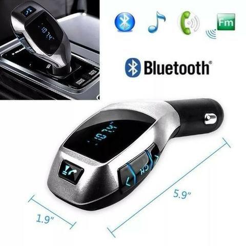 Transmissor Fm Bluetooth Veicular X6 Wireless Car Kit