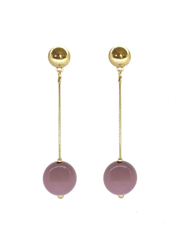 Brinco Lilás - Berries Clássico Dourado