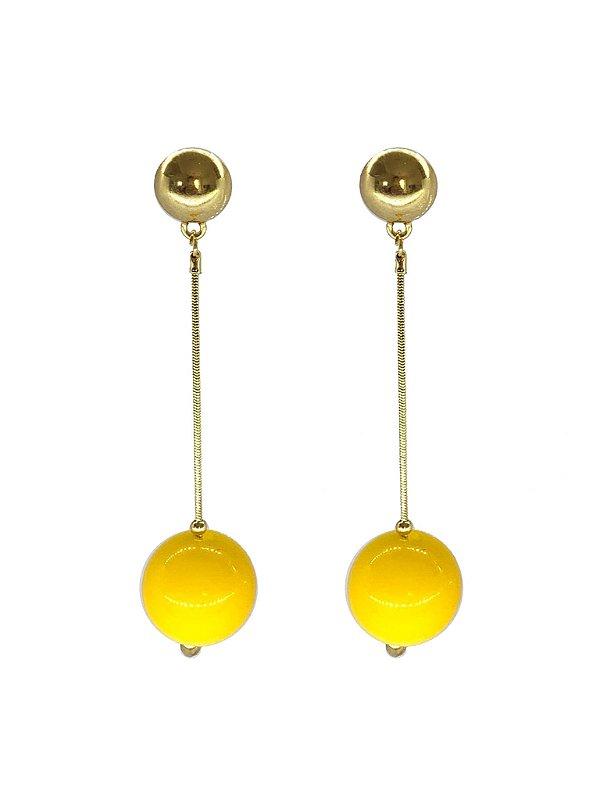 Brinco Amarelo - Berries Clássico Dourado