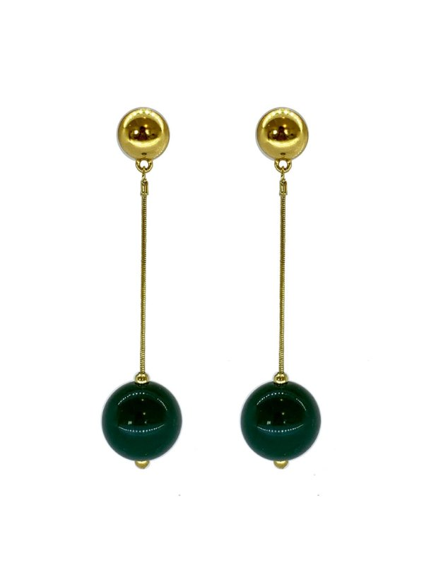 Brinco Verde - Berries Clássico Dourado