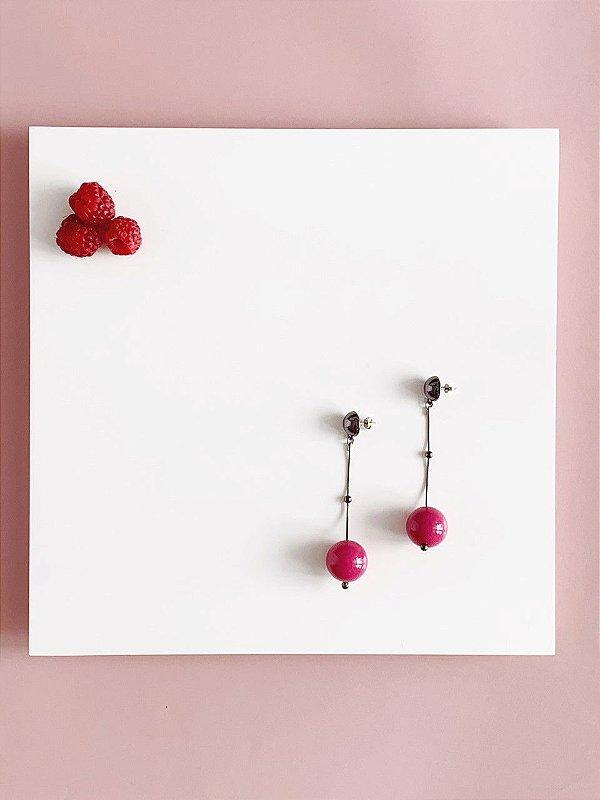 Brinco Rosa - Berries Clássico Grafite