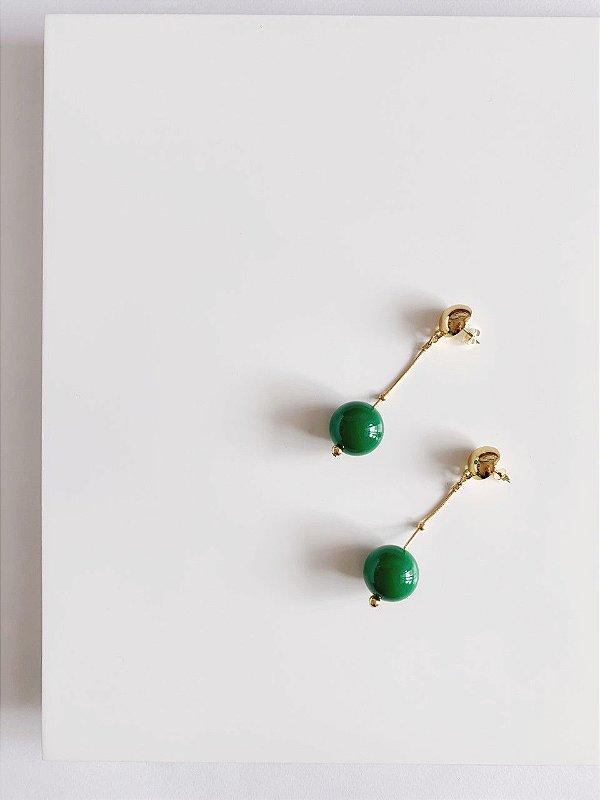Brinco Verde- Berries Mini Clássico