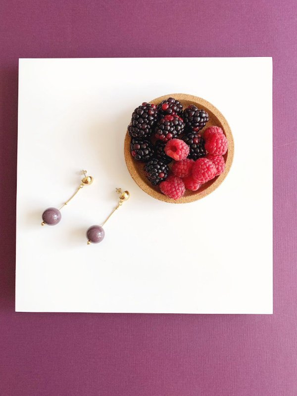 Brinco Ameixa - Berries Mini Clássico