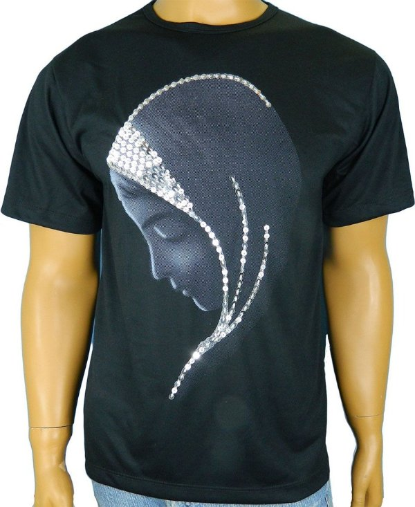 Bordado manual Camiseta-Virgem-Silencio
