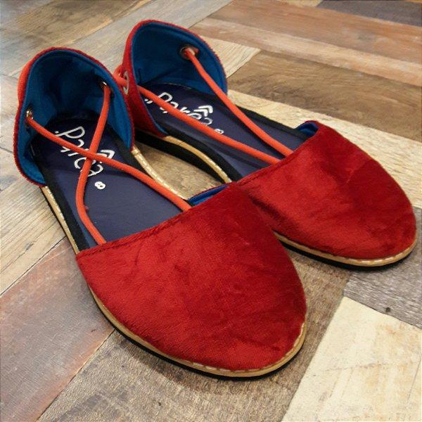 Sandália Parêa | Catraia fechada - Vermelha