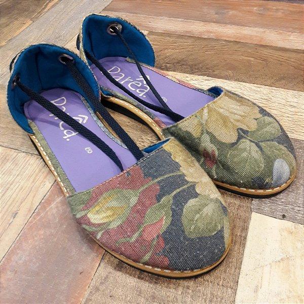 Sandália Parêa | Catraia fechada - Floral Azul