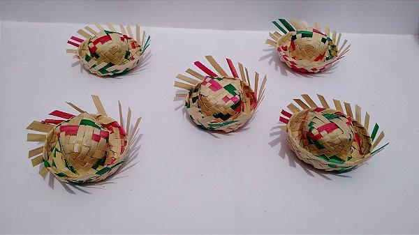 100 Mini Chapéu De Palha Colorido Decoração Festa Junina Magazine