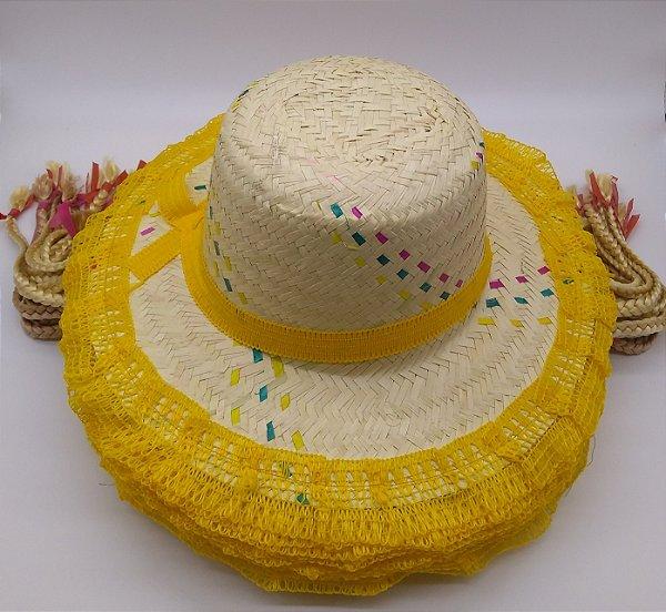 cec75ef32fc58 chapéu de palha festa junina com tranças