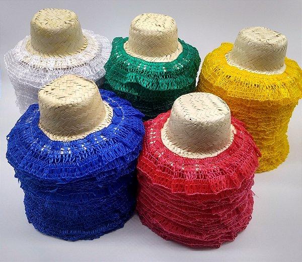 928c8d03a0021 chapéu boneca de palha festa junino com renda - magazine valderi