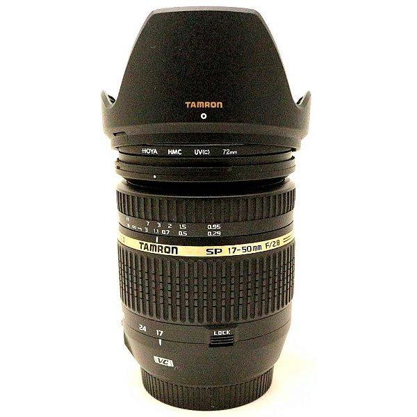 Lente Tamron SP AF 17-50mm f/2.8 XR Di-II VC com Filtro e Parasol para Canon Seminova