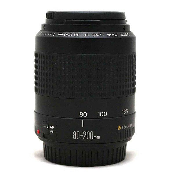 Lente Canon EF 80-200mm f/4.5-5.6 II Seminova