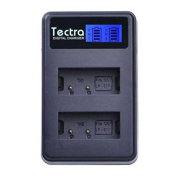 Carregador de Bateria Duplo Tectra para Bateria Canon LP-E17