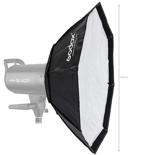 Softbox Godox SB-BW-120CM Octogonal 120cm para Flash com Sistema Bowen