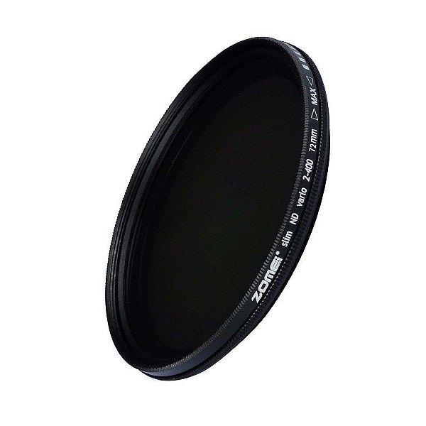 Filtro ND Variável 2-400 Slim Zomei 72mm