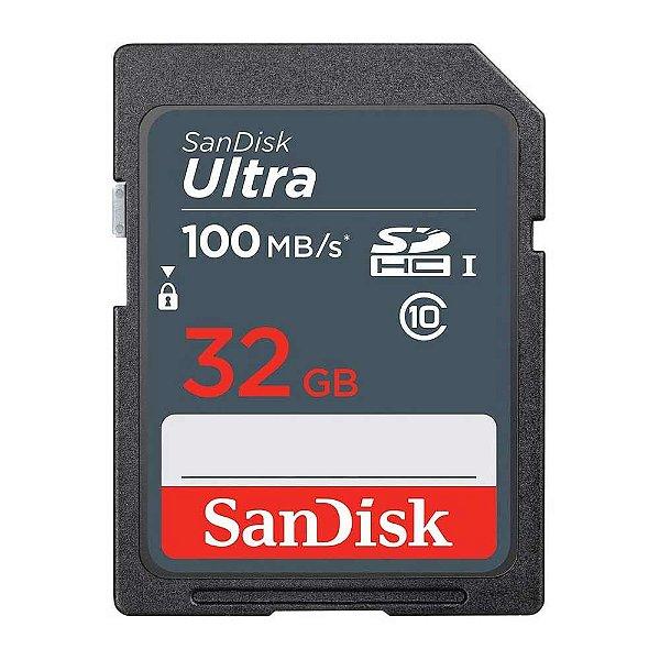 Cartão de Memória SanDisk SDHC Ultra 32GB 100 MB/s